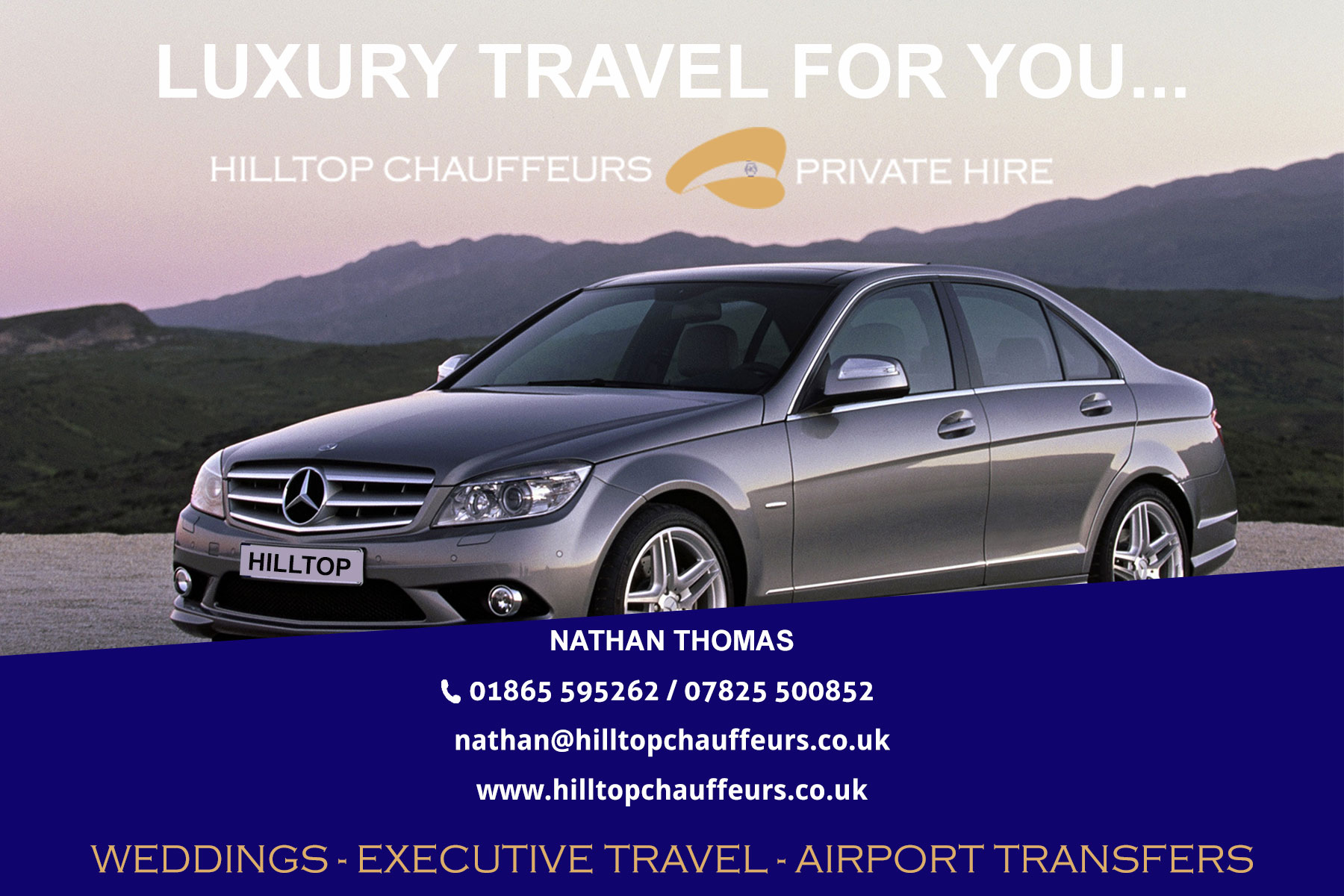 business-card-mock-up - Hilltop Chauffeurs Oxfordshire